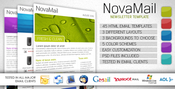 Free Download NovaMail Newsletter Template Nulled Latest Version