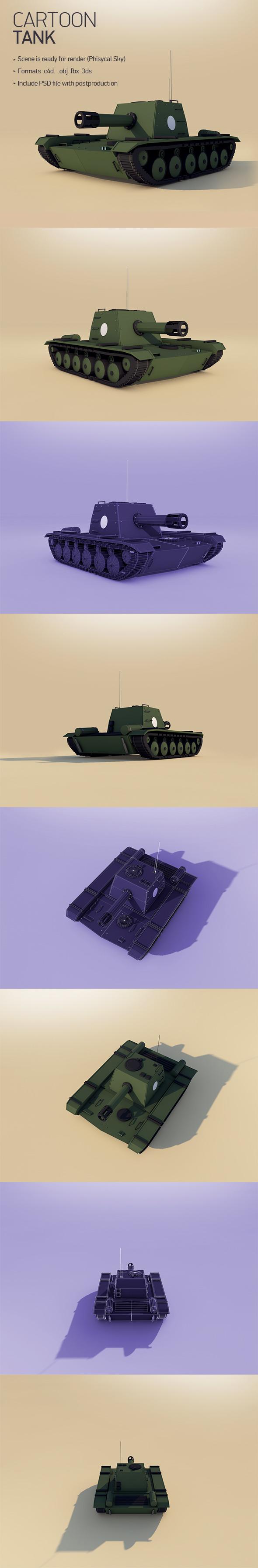 Cartoon Tank - 3DOcean Item for Sale