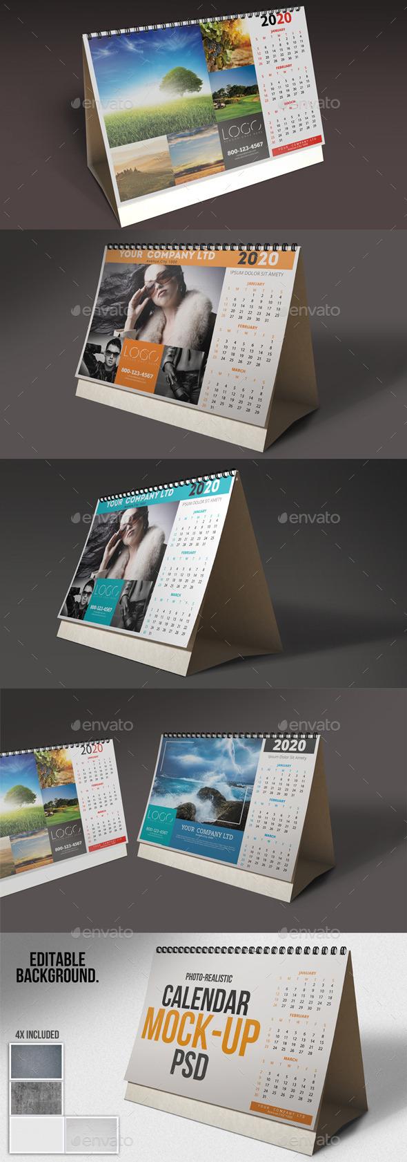 Desk Calendar Mock-Ups