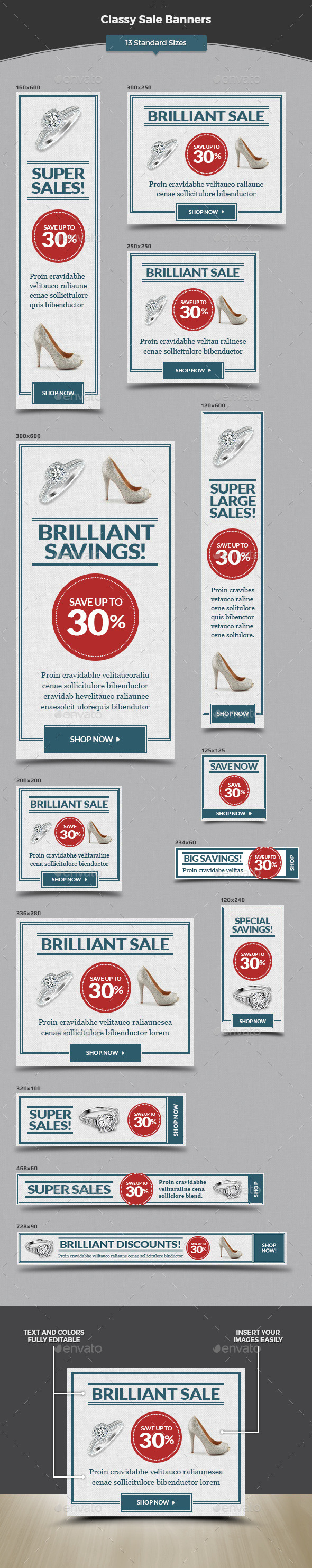 Classy Sale Banners - Banners & Ads Web Elements