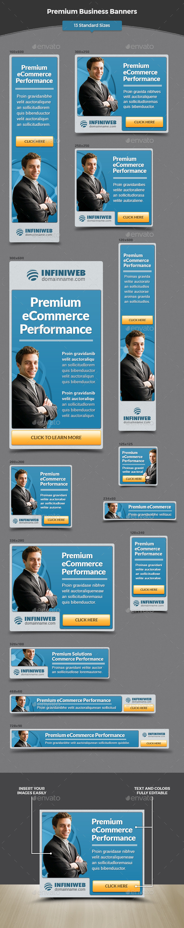 Premium Business Banners - Banners & Ads Web Elements