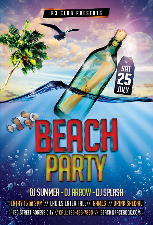summer beach party bundle v6 by arrow3000