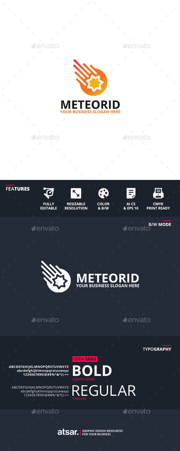 Meteorid - Objects Logo Templates