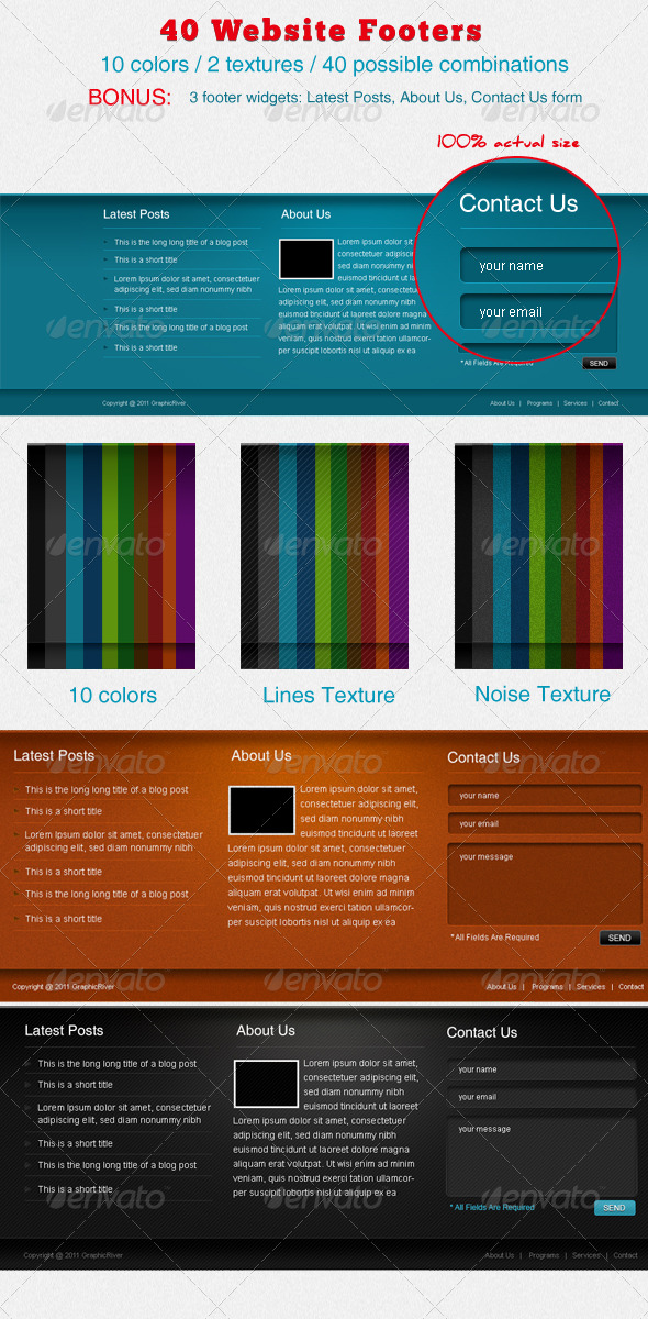 40 Website Footers - Miscellaneous Web Elements