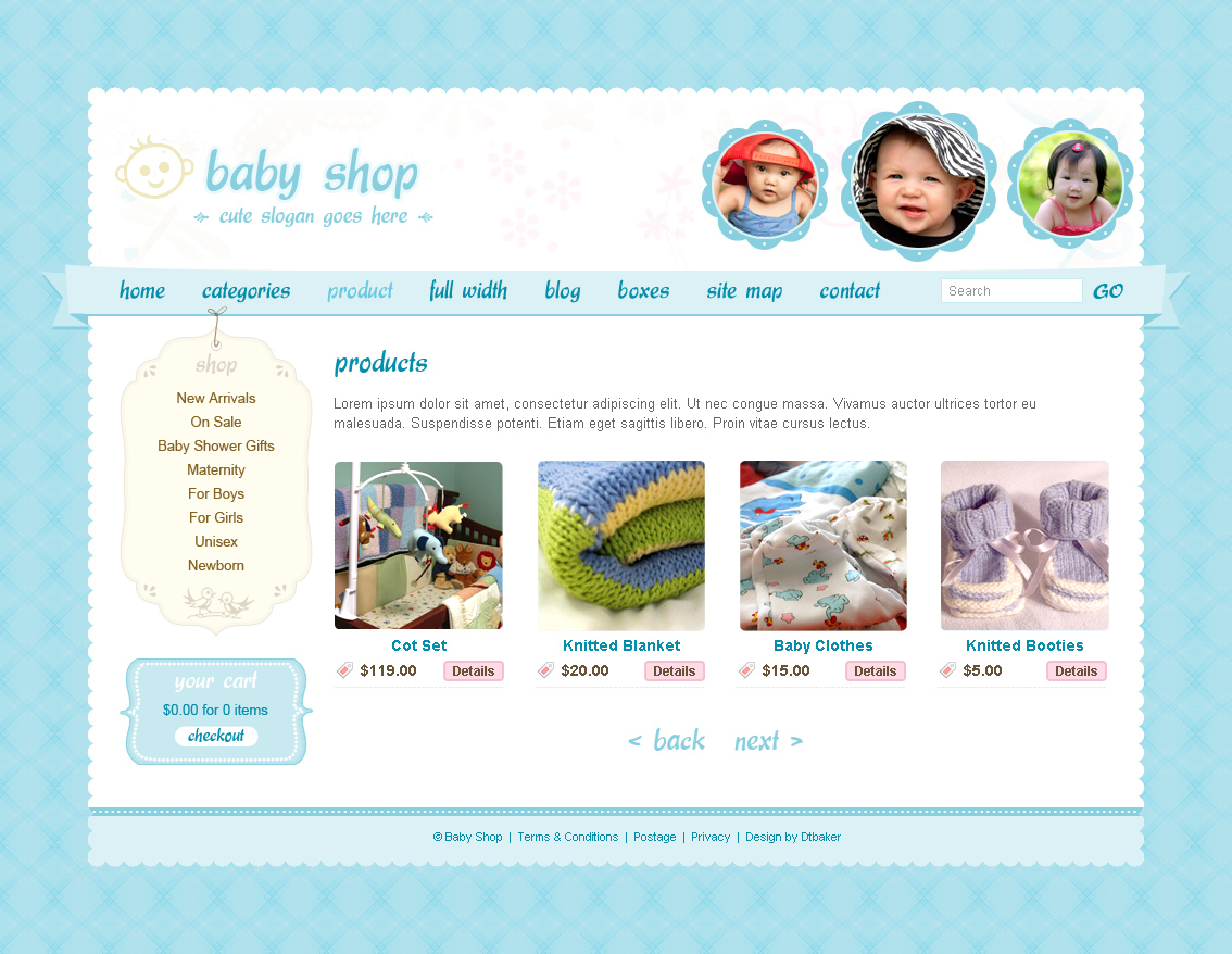 Cute & Sweet - 3 Color - HTML & PHP Shopping Cart by dtbaker ... Cute Homepage Design Html on cute health, cute portfolio, cute weather, cute humor, cute contact, cute business,