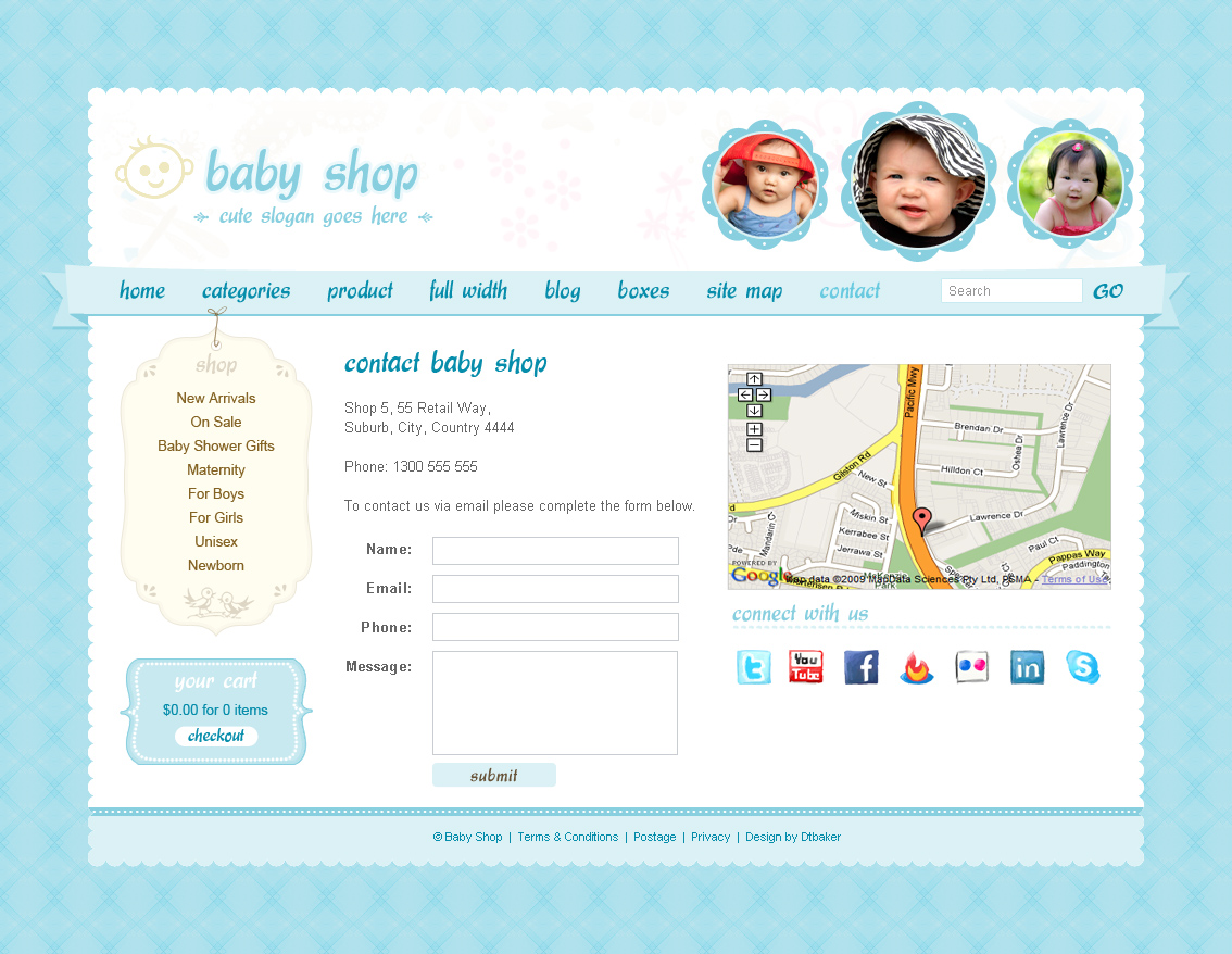 Cute & Sweet - 3 Color - HTML & PHP Shopping Cart by dtbaker ... Cute Homepage Design Html on cute business, cute humor, cute health, cute portfolio, cute weather,