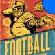Retro Football Flyer Template
