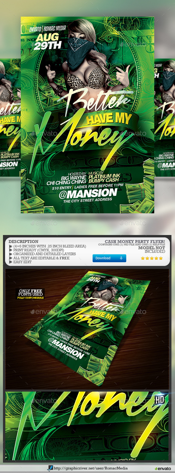 Money Party Flyer - Clubs & Parties Events