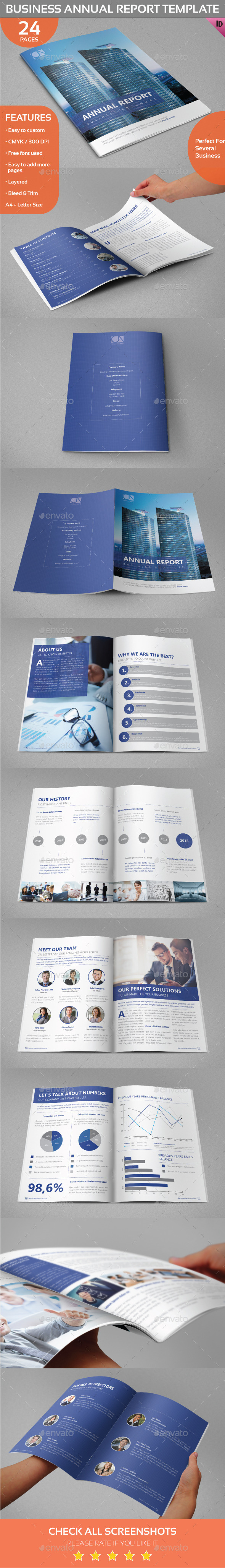 Business Annual Report/Brochure Template - Informational Brochures