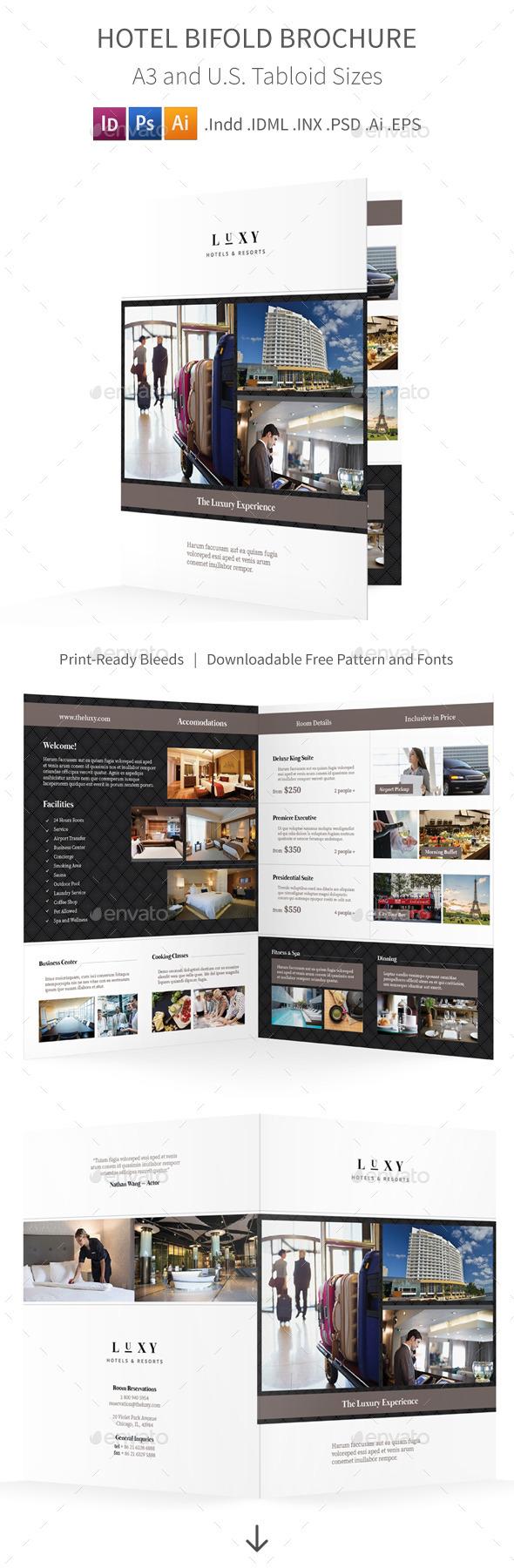 Hotel Bifold / Halffold Brochure - Informational Brochures