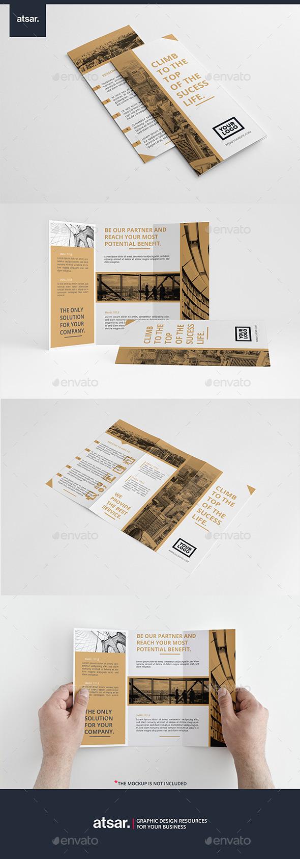Elegant Business Trifold - Corporate Brochures