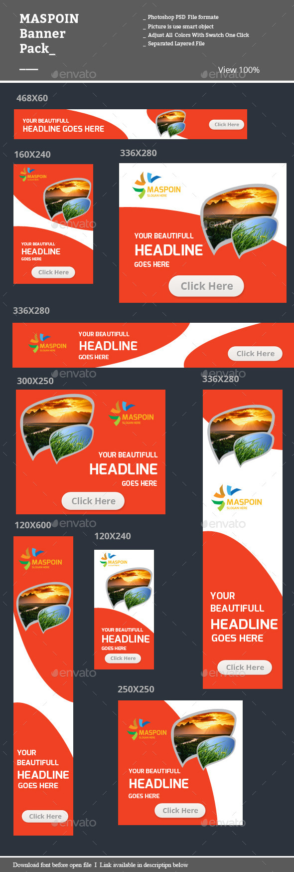 Maspoin Banner Pack - Banners & Ads Web Elements