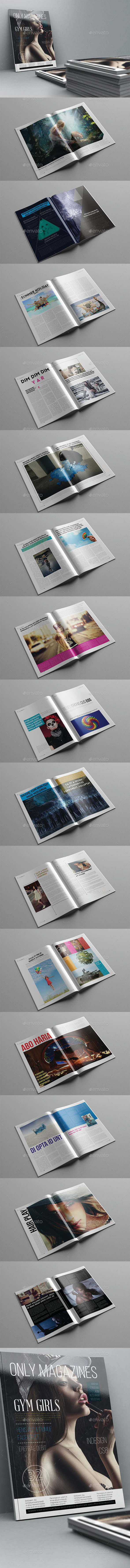 Only Magazine Template 32 Pages - Magazines Print Templates