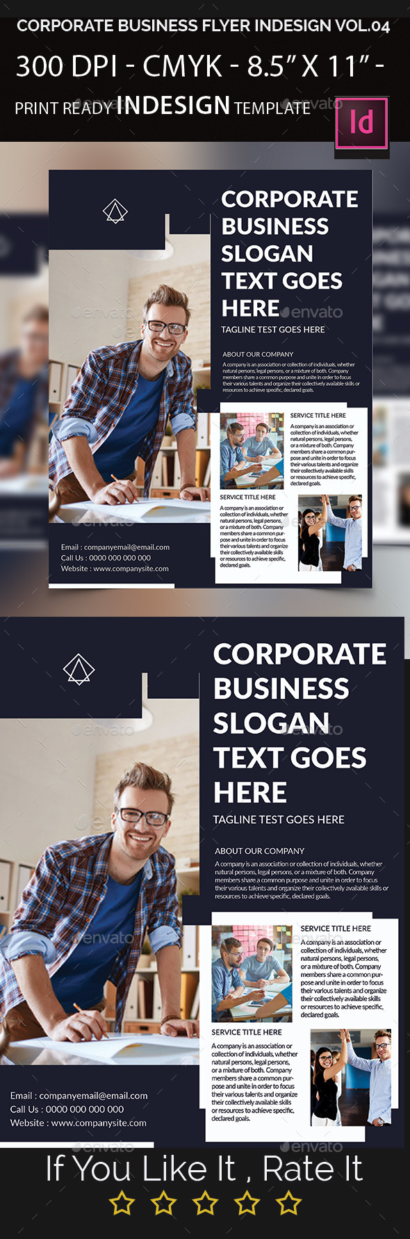 Corporate Business Flyer Indesign Template - Corporate Flyers