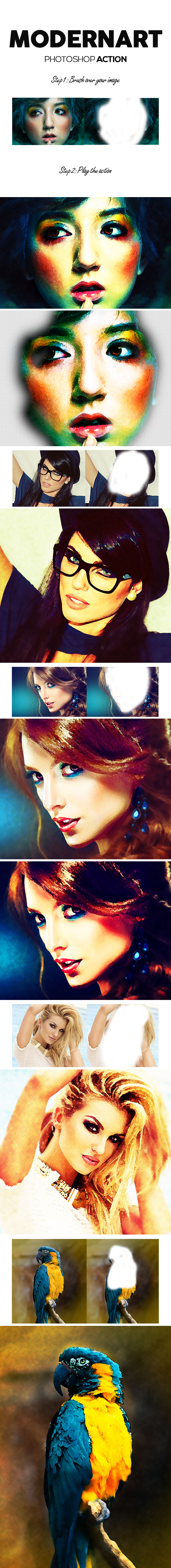 ModernArt Photoshop Action - Photo Effects Actions