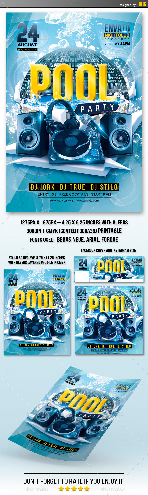 Pool Party Flyer - Events Flyers
