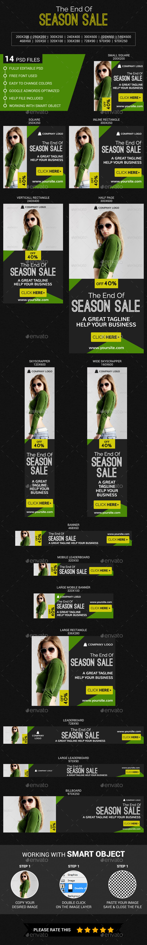 Fashion - Banners & Ads Web Elements