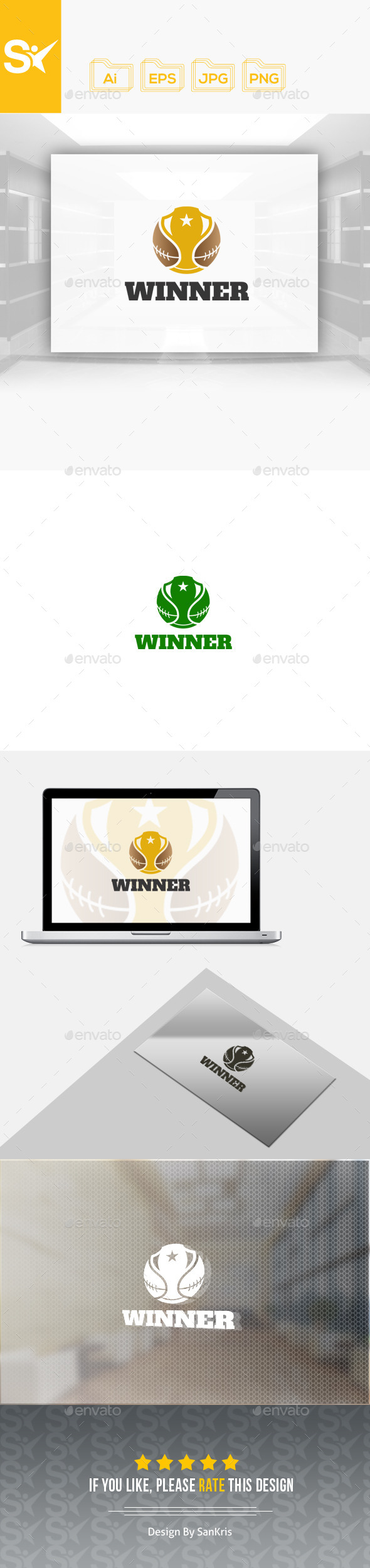 Winner Logo Template - Objects Logo Templates
