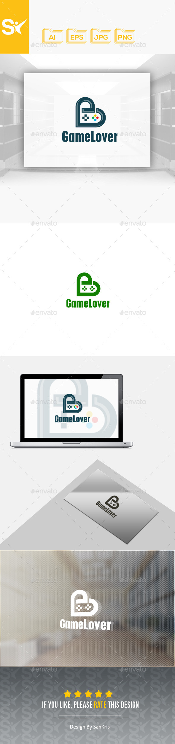 Game Lover Logo - Symbols Logo Templates