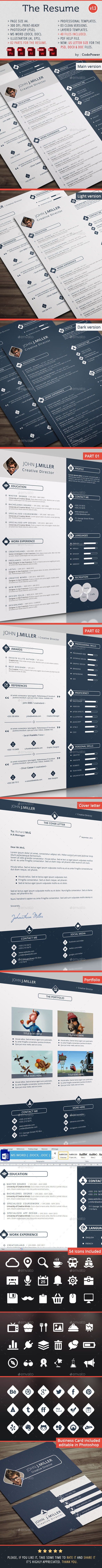 The Resume By Codepower Graphicriver