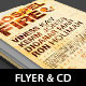 Gospel Fire Church Flyer Ticket CD Template - GraphicRiver Item for Sale