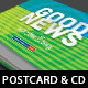 Good News Church Postcard CD Template - GraphicRiver Item for Sale