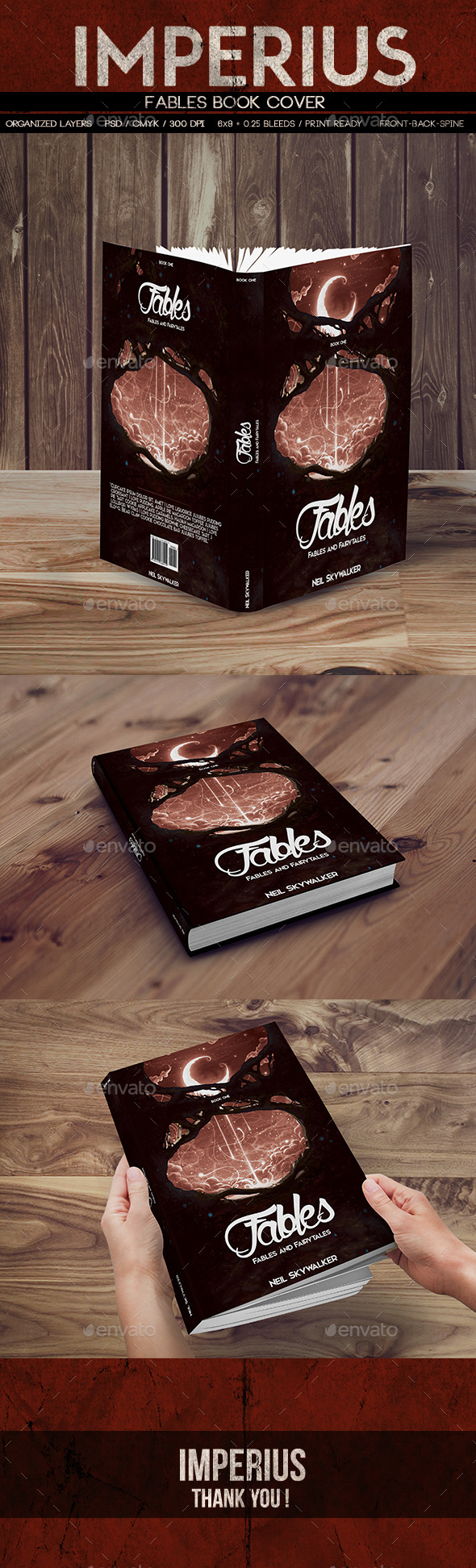 Fables Book Cover - Miscellaneous Print Templates