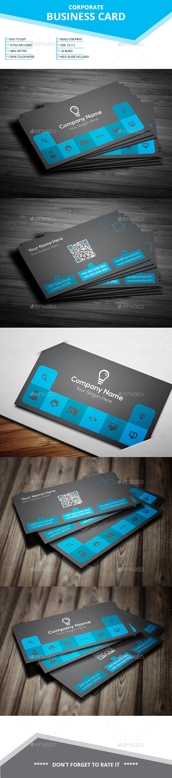 Corporate Business Card _ Vol-22 - Business Cards Print Templates