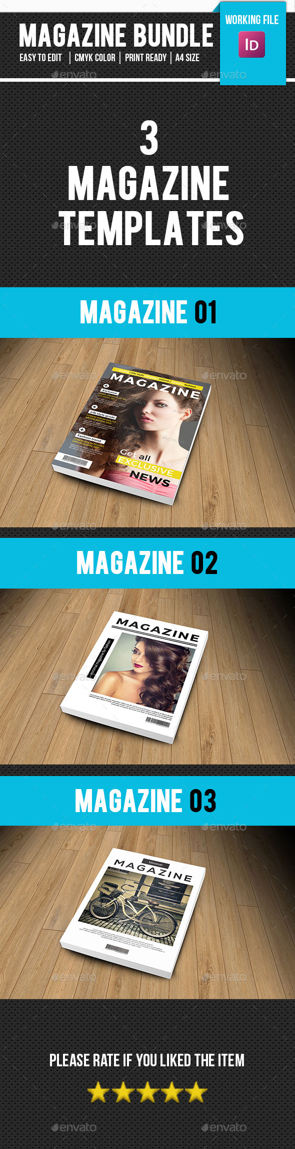 Multipurpose Magazine Template Bundle-V01 - Magazines Print Templates