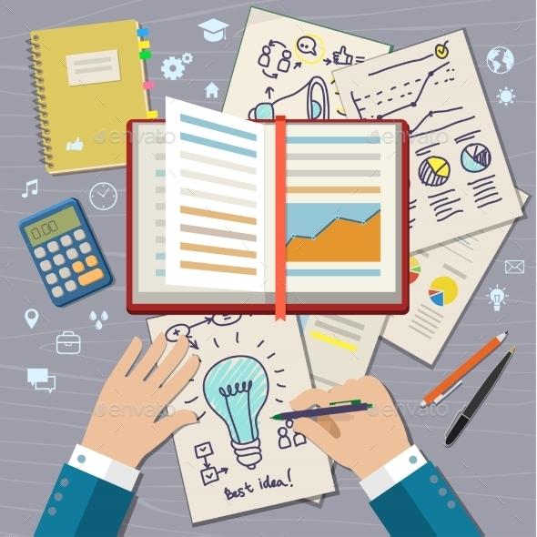 Concept Of Idea. - Technology Conceptual