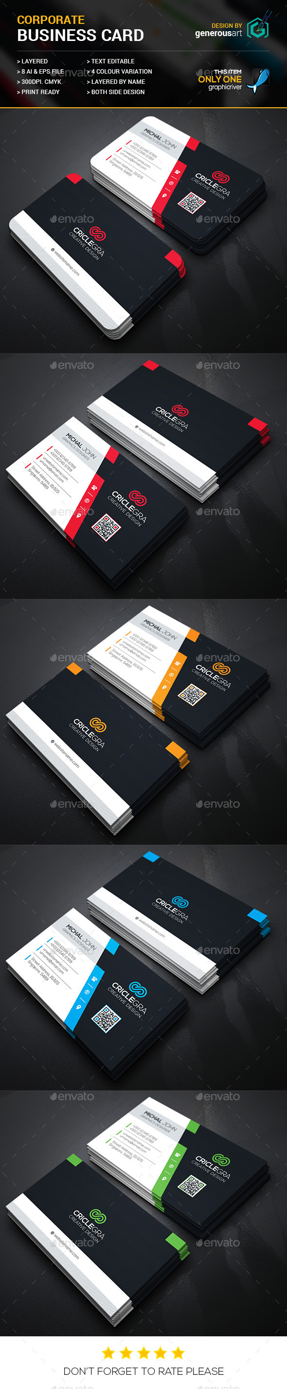 Criclegra Corporate Business Cards 2