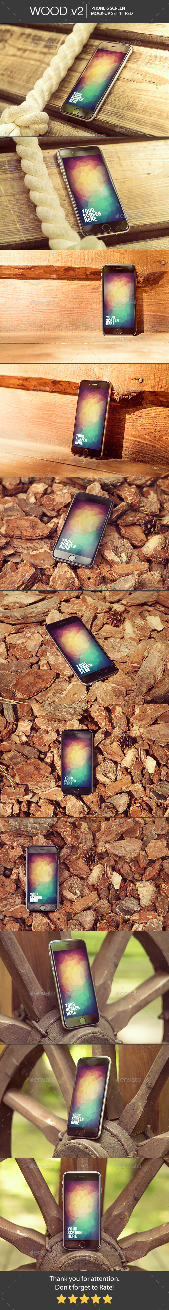 Wood v2 Phone 6 Mock-Up - Mobile Displays