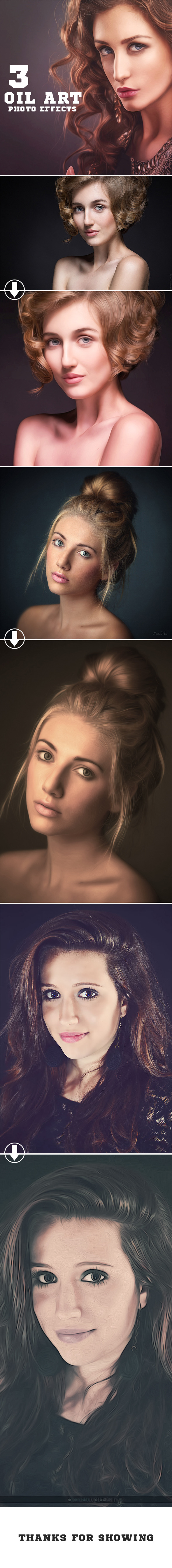 3 Oil Paint Photo Effects - Photo Effects Actions