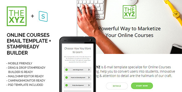 theXYZ – Online Courses Purposes E-mail Template