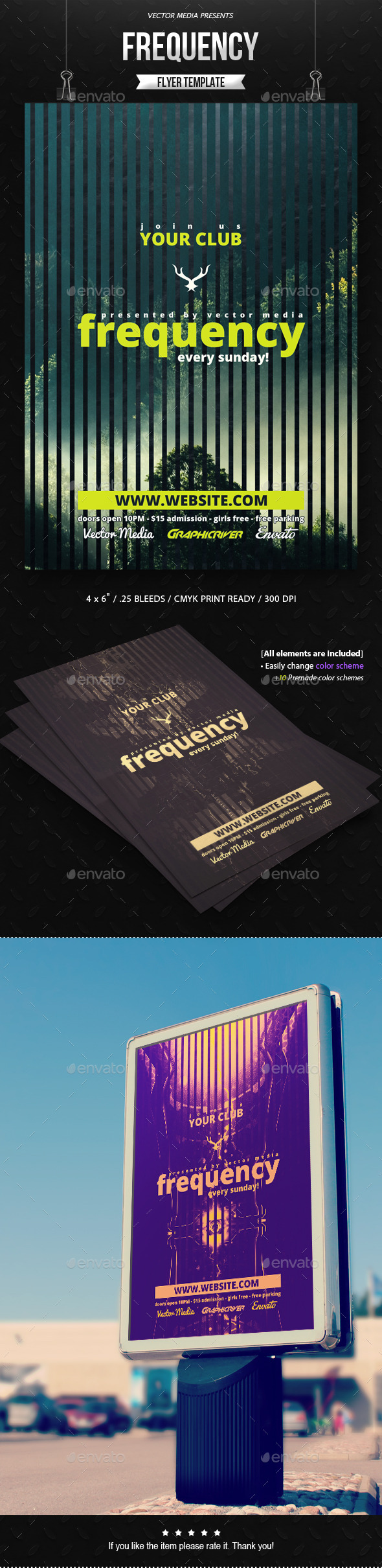 Frequency - Flyer - Clubs & Parties Events