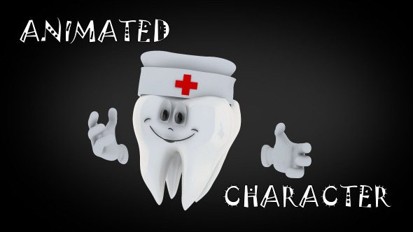 Animated Tooth Character