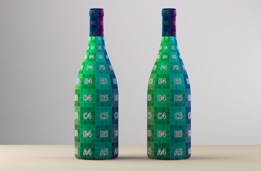 Photoreal Wine Bottles Low Shoulder By Konrad Ha 3docean