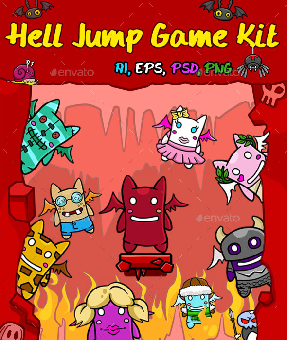Hell Jump Game Kit - Game Kits Game Assets