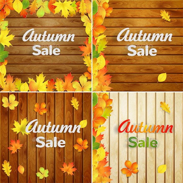 Autumn Sale Backgrounds - Retail Commercial / Shopping