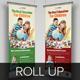 School Promotion Roll Up Banner Signage InDesign - GraphicRiver Item for Sale