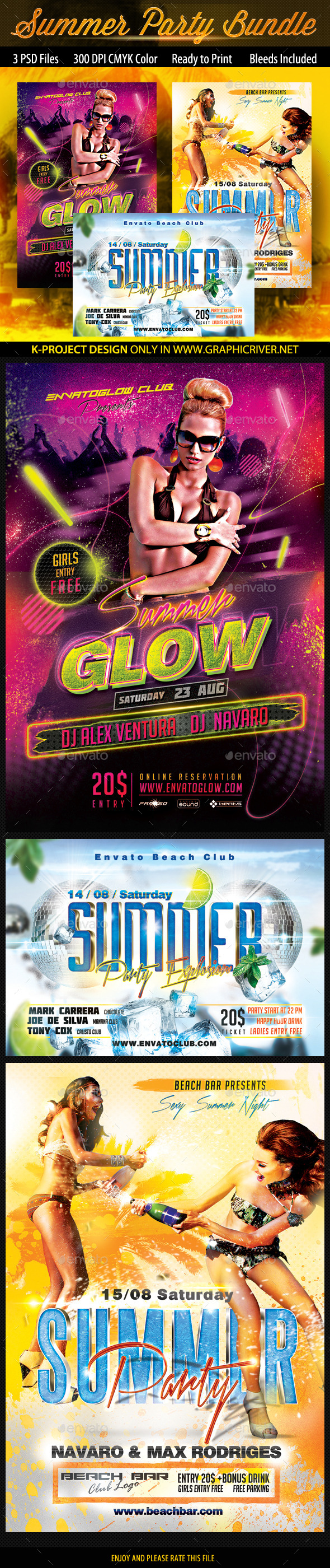 Summer Flyers Bundle - Clubs & Parties Events