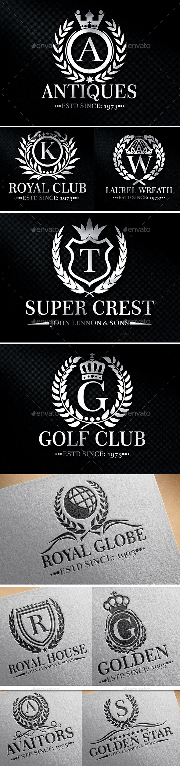 Heraldic Crest Logos Vol 6