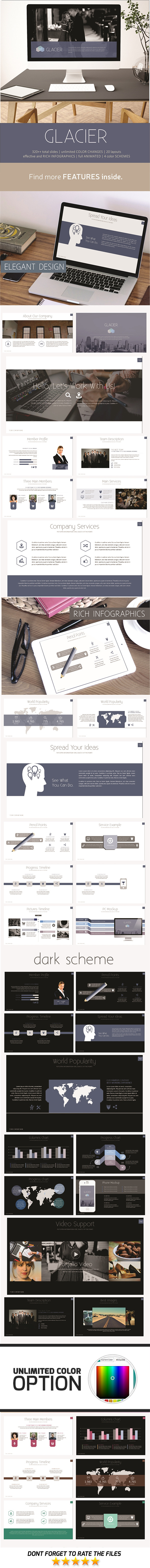 Glacier PowerPoint Template - Business PowerPoint Templates