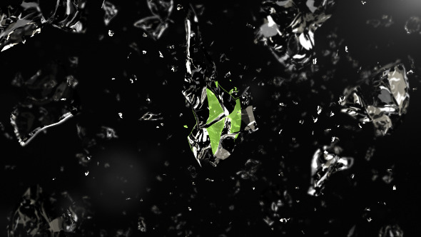 Crumbling Liquid Logo Reveal