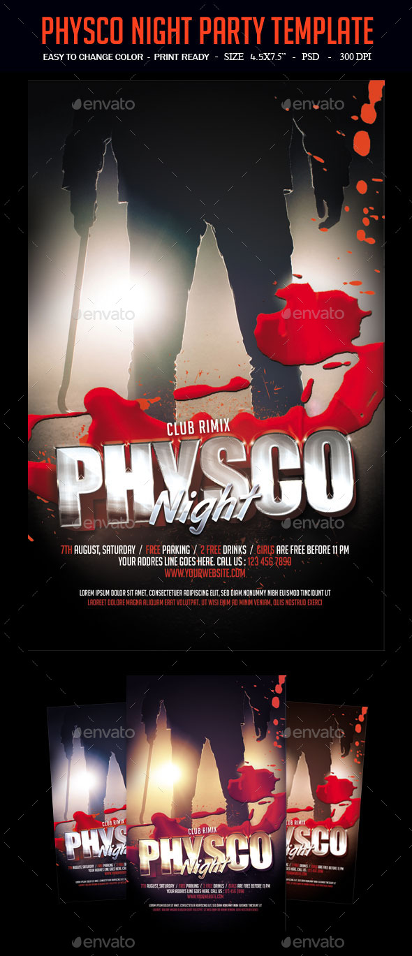 Physco Night Party Template - Clubs & Parties Events