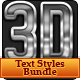 Premium 3D Text Styles Bundle - GraphicRiver Item for Sale