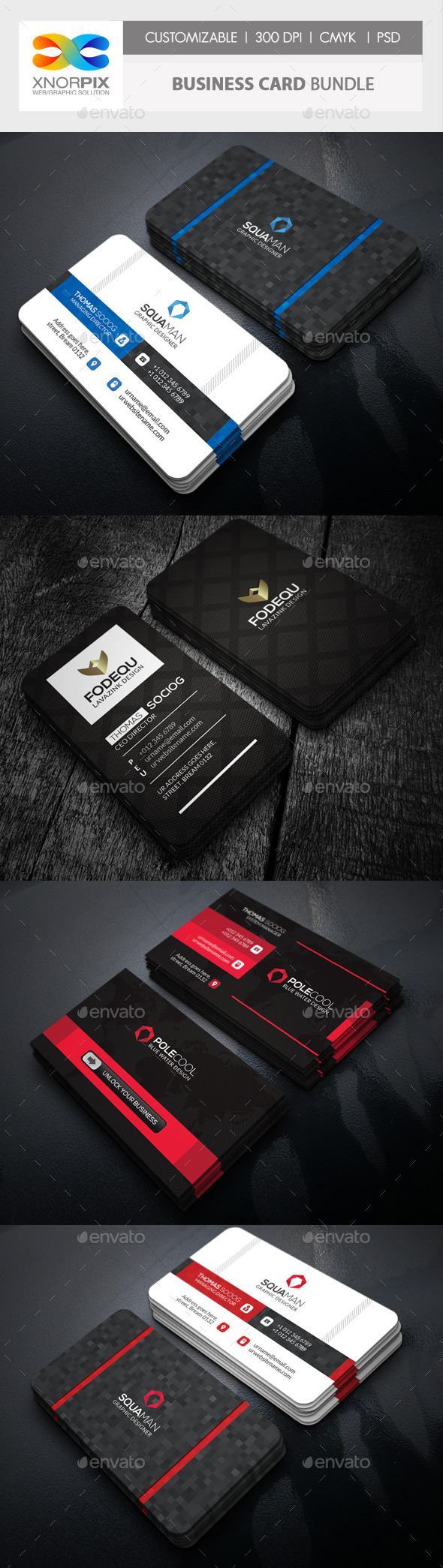 Business Card Bundle 3 in 1-Vol 58 - Corporate Business Cards
