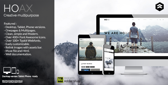 HOAX – Creative Multipurpose Muse Template