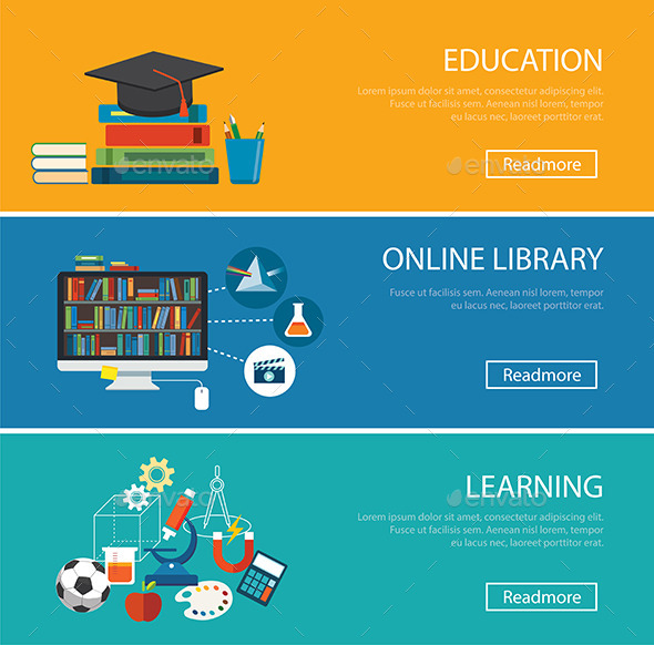 Flat Design Concept For Education  - Miscellaneous Conceptual