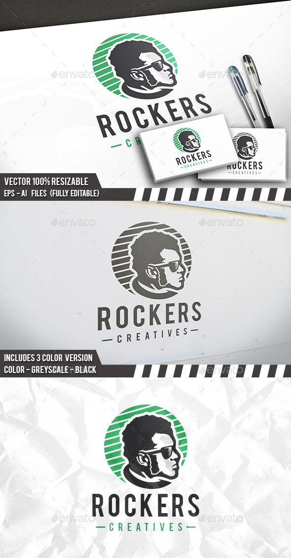 Rock Star Logo - Humans Logo Templates